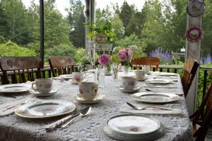 Victorian Garden Party A Success - table ready