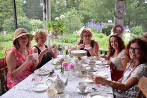 Victorian Garden Party A Success - women drinking tea