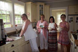 Victorian Garden Party A Success women in the kitchen
