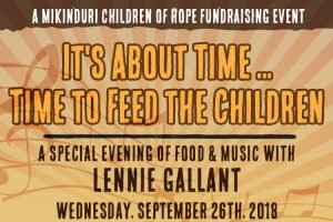 Uploaded ToA Special Evening of Food & Music with Lenny Gallant banner
